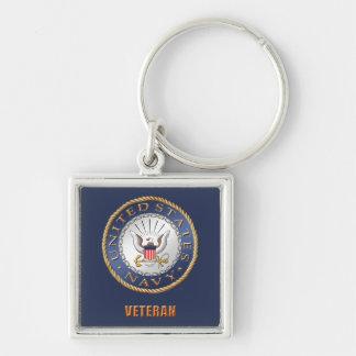 U.S. Navy Veteran Premium Square Keychain