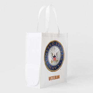 U.S. Navy Veteran Reusable Grocery Bag