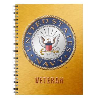 U.S. Navy Veteran Spiral Photo Notebook