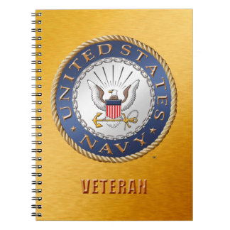 U.S. Navy Veteran Spiral Photo Notebook