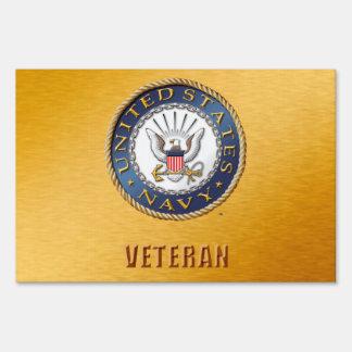 U.S. Navy Veteran Yard Sign