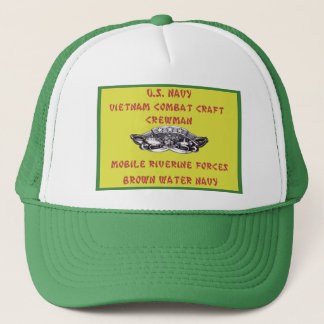 U.S. NAVY VIETNAM COMBAT CRAFT CREWMAN TRUCKER HAT