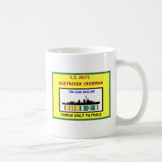 U.S. NAVY VIETNAM DESTROYER CREWMAN COFFEE MUG