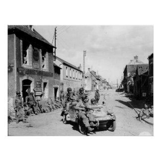 U.S. Paratroopers in Carentan France World War II Poster