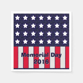 U.S. Patriotic Celebration of National Holidays Paper Napkin