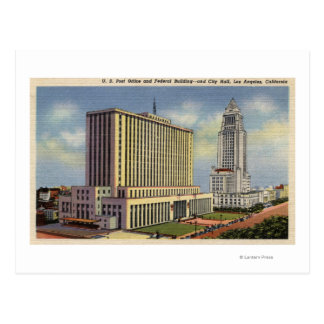 U. S. Post Office, City Hall, & Federal Building Postcard