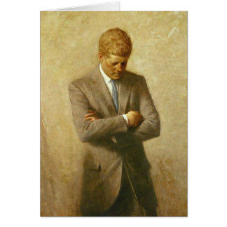 U.S. President John F. Kennedy by Aaron Shikler Card