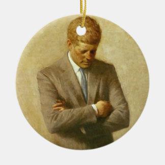 U.S. President John F. Kennedy by Aaron Shikler Ceramic Ornament