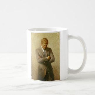 U.S. President John F. Kennedy by Aaron Shikler Classic White Coffee Mug