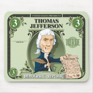 U.S. Presidents Mousepad: #3 Thomas Jefferson Mouse Pad