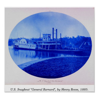 "U.S. Snagboat ""General Barnard"" 1885 Poster"