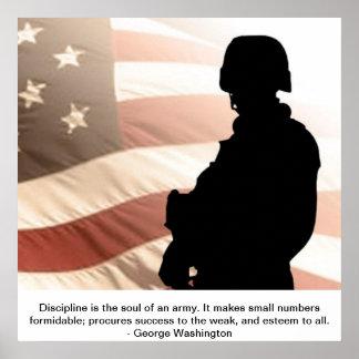 U.S. Soldier W/George washington Quote Poster
