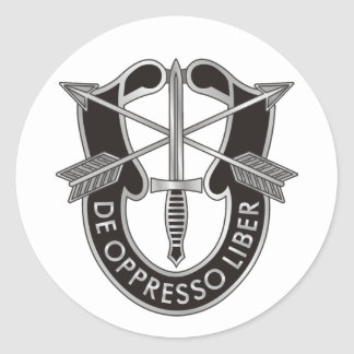 U.S. Special Forces Crest Classic Round Sticker