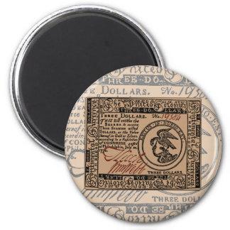 U S Three Dollar Bill - Magnet 2