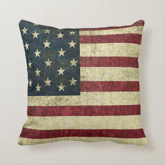 U.S. Vintage Grunge Pillow
