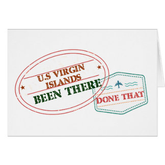 U.S Virgin Islands Been There Done That Card
