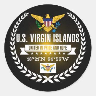 U.S. Virgin Islands Classic Round Sticker