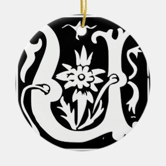 U-U Letter Love You Round Ceramic Ornament