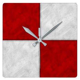 U Uniform Watercolor Nautical Signal Maritime Flag Square Wall Clock