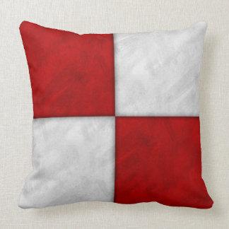 U Uniform Watercolor Nautical Signal Maritime Flag Throw Pillow
