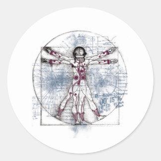 U.V MAN(Universal Vitruvian Man) Classic Round Sticker