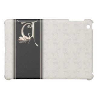 U White Damask Swans Monogram  iPad Mini Cover