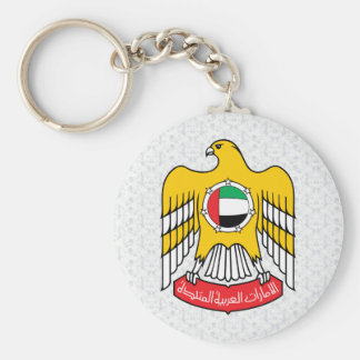Uae Coat of Arms detail Basic Round Button Keychain