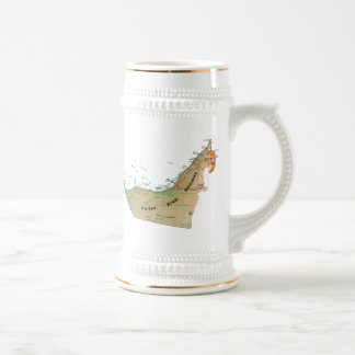 UAE Flag ~ Map Mug