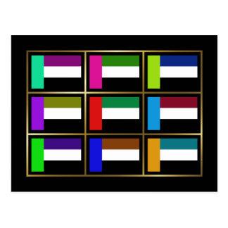 UAE Multihue Flags Postcard