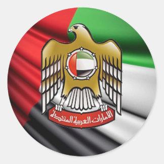 UAE ROUND STICKER