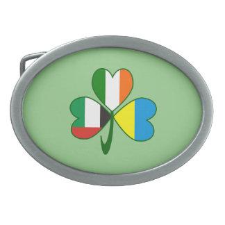 UAE Ukraine Ireland Shamrock Belt Buckle