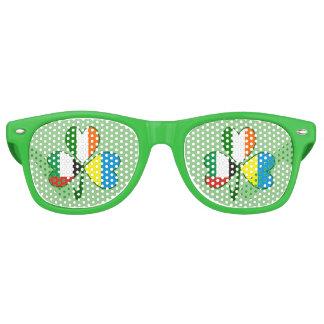 UAE Ukraine Ireland Shamrock Retro Sunglasses