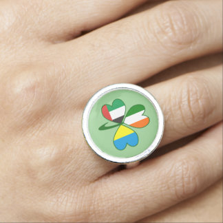 UAE Ukraine Ireland Shamrock Ring