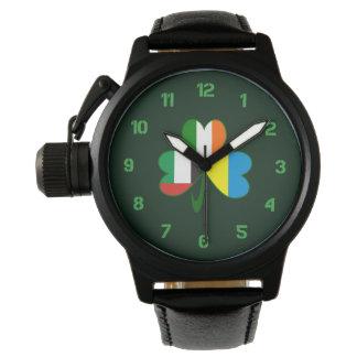 UAE Ukraine Ireland Shamrock Wristwatch