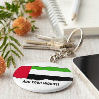 UAE United Arab Emirates Flag Basic Round Button Keychain