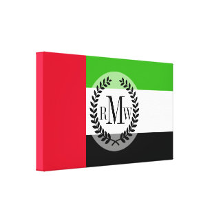 UAE United Arab Emirates Flag Canvas Print