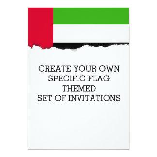 UAE United Arab Emirates Flag Card
