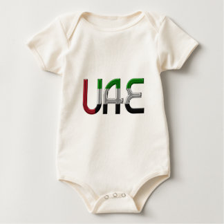UAE United Arab Emirates Flag Colors Typography Baby Bodysuit