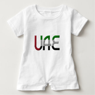 UAE United Arab Emirates Flag Colors Typography Baby Romper