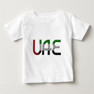 UAE United Arab Emirates Flag Colors Typography Baby T-Shirt