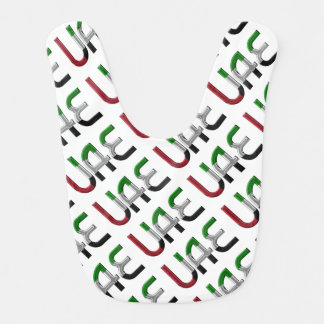 UAE United Arab Emirates Flag Colors Typography Bib