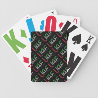 UAE United Arab Emirates Flag Colors Typography Bicycle Playing Cards