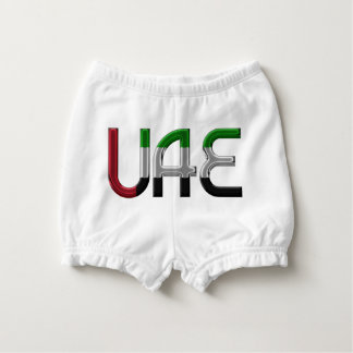 UAE United Arab Emirates Flag Colors Typography Diaper Cover