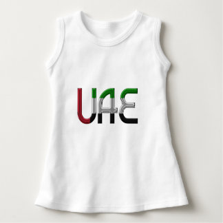 UAE United Arab Emirates Flag Colors Typography Dress
