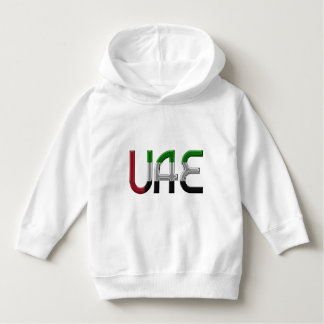 UAE United Arab Emirates Flag Colors Typography Hoodie