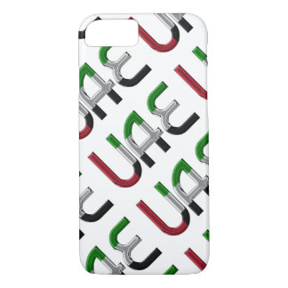 UAE United Arab Emirates Flag Colors Typography iPhone 8/7 Case