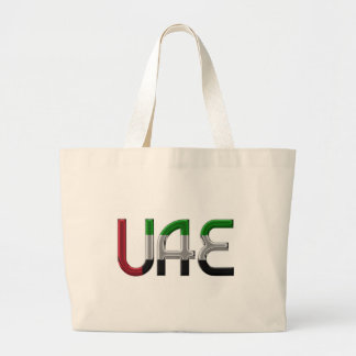 UAE United Arab Emirates Flag Colors Typography Large Tote Bag