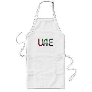 UAE United Arab Emirates Flag Colors Typography Long Apron