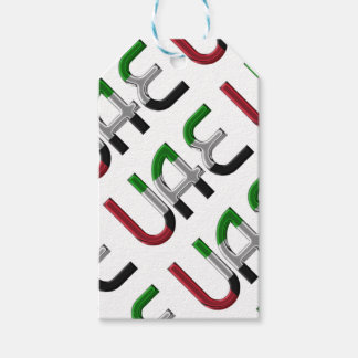 UAE United Arab Emirates Flag Colors Typography Pack Of Gift Tags