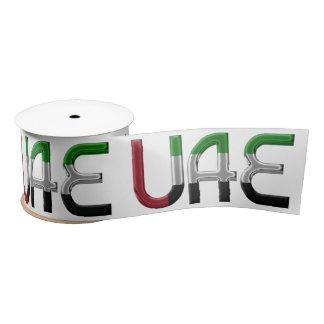UAE United Arab Emirates Flag Colors Typography Satin Ribbon